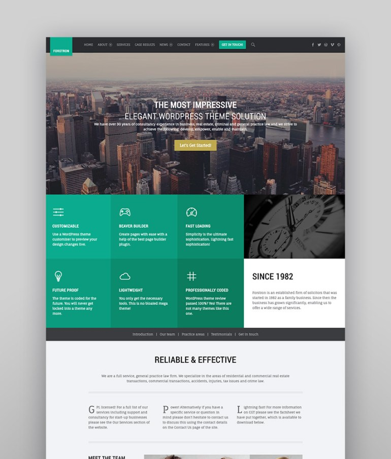 Forstron - Legal Business WordPress Theme