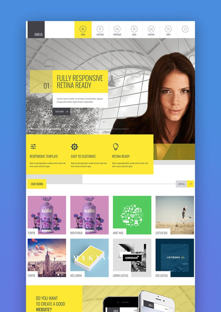 Amilia - Multipurpose One  Multi Page WP Theme