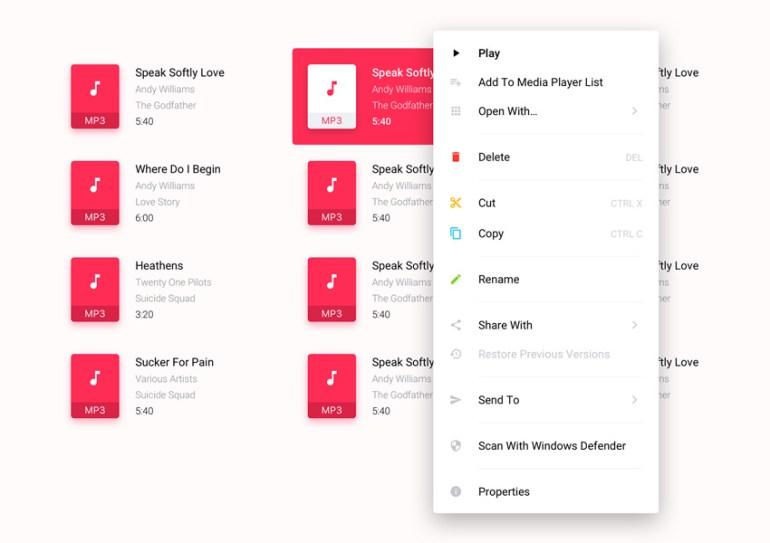 Context menu by Khalid Hasan Zibon