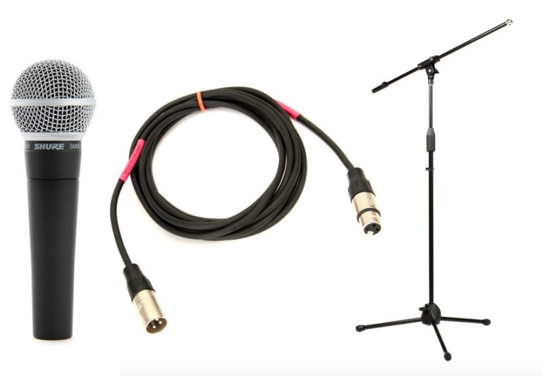 Mic Stand Microphone and Mic Cable