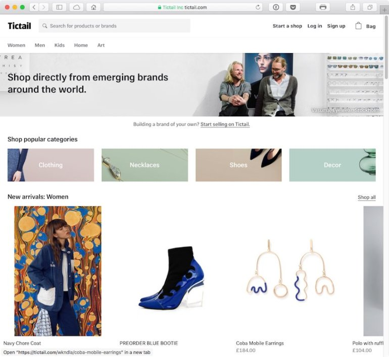 Tictail is a social marketplace home to independent brands from over 140 countries around the world