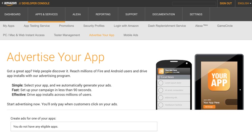 Amazon Appstore - Advertise Your App