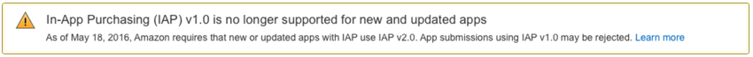 Amazon Appstore - Required Upgrade to IAP v20