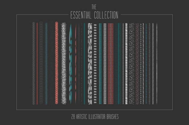 Essential Artistic Illustrator Brush Collection