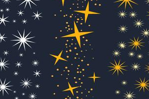 Free Sparkly Stars Brushes Vectors