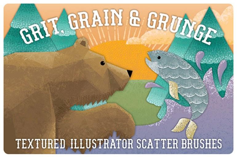 Grit Grunge  Grain Scatter Brushes