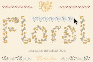 Free Floral Pattern Brushes For Illustrator