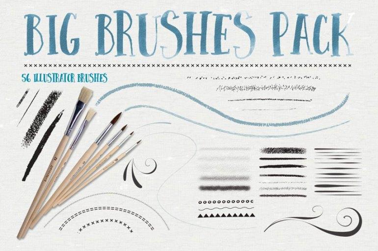Big Illustrator Brushes Pack