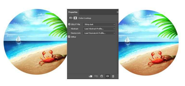 Add Color Lookup to Adjust the Sunny Beach Colors