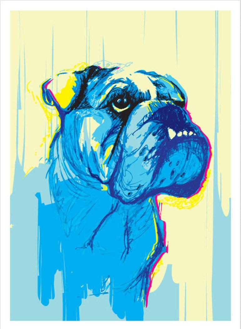 Dog Portrait by Giuseppe Simpatico