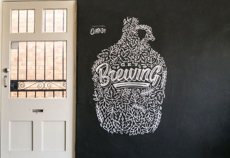 Get Brewing Typography by Melissa SO