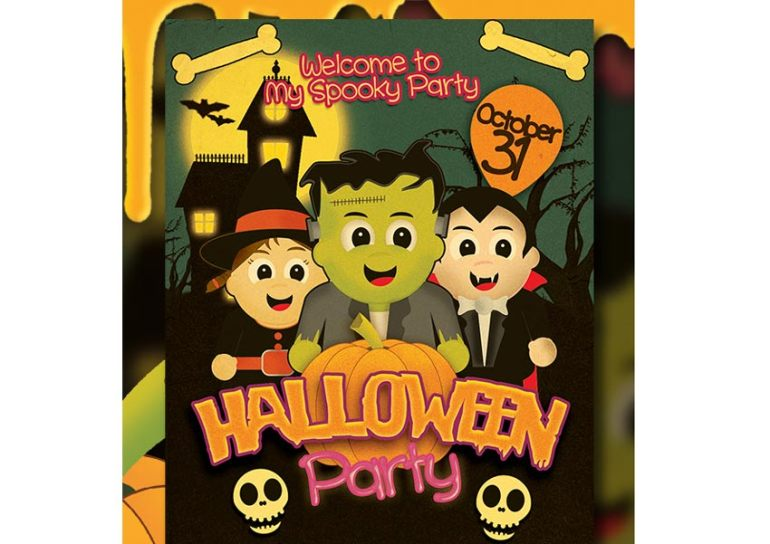 Kids Halloween Party Flyer