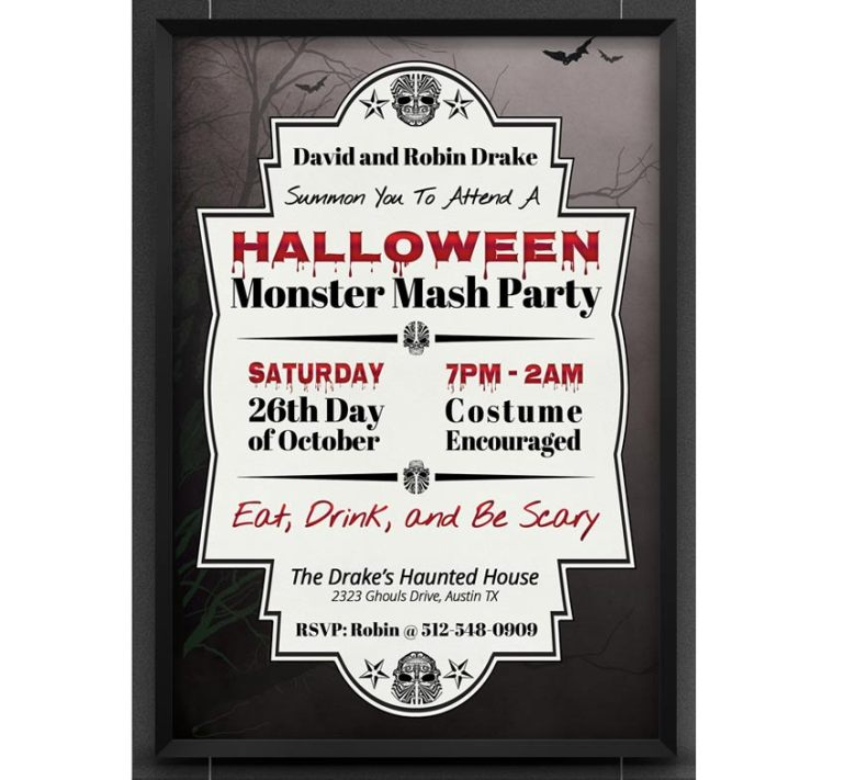 Halloween Monster Mash Party Invite