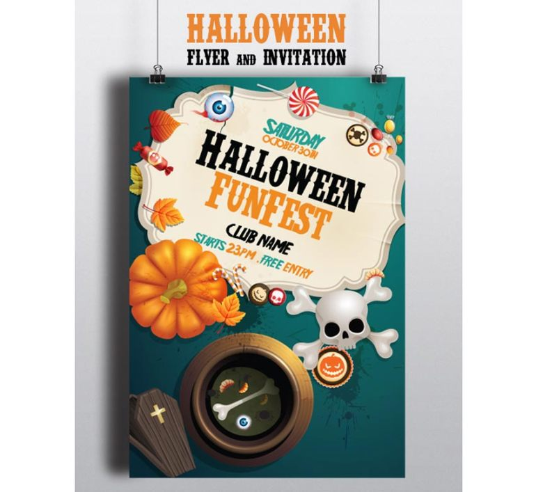 Halloween Invitation  Flyer Pack