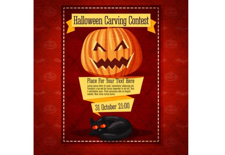 Pumpkin Carving Halloween Invitation