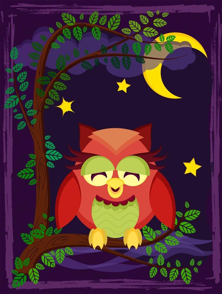 Owl Vector Illustration by Divair Laurindo Rosa