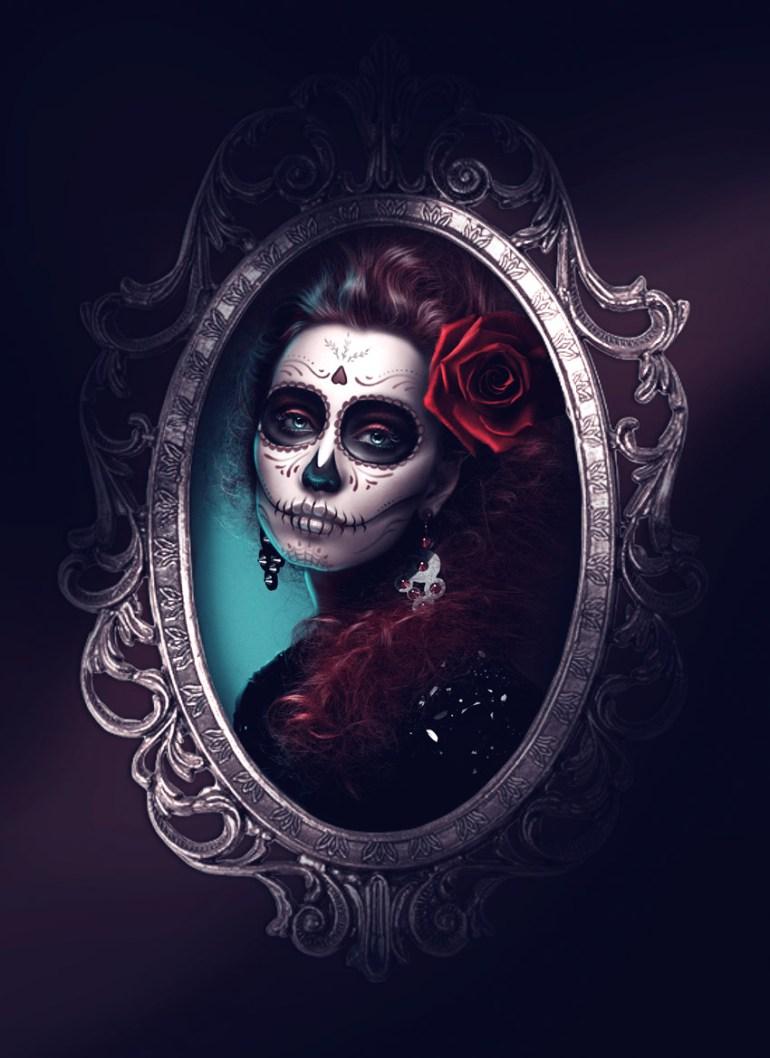 Sugar Skull Dia De Los Muertos Photo Manipulation by Melody Nieves