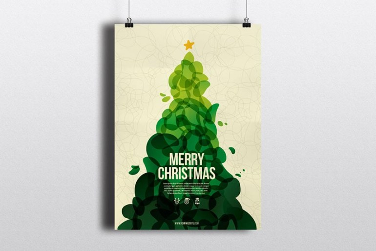 Cool Abstract Christmas Flyer
