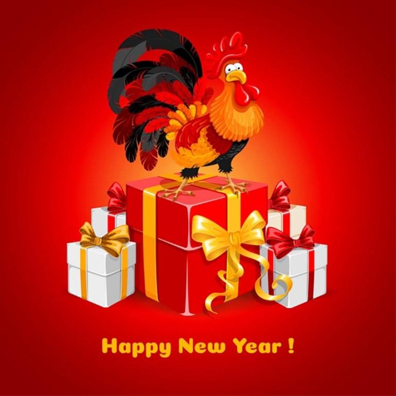 New Year Congratulations Card