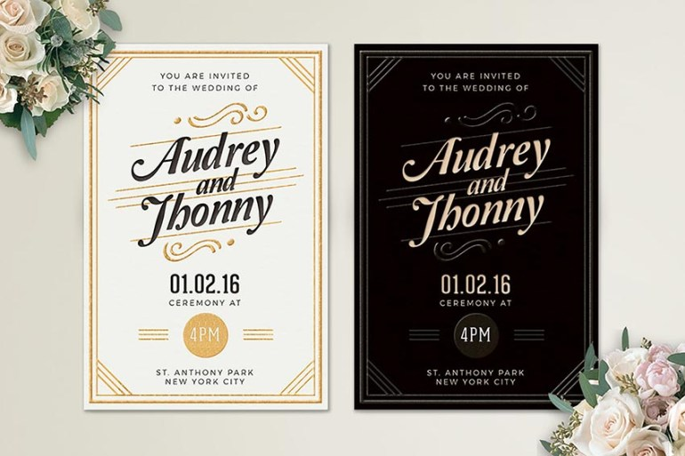 Simple Elegant Wedding Invitation
