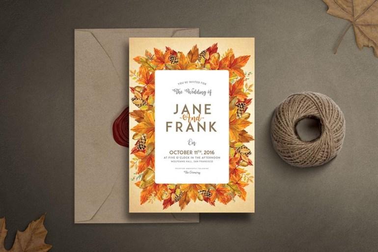 Autumn Wedding Invitation Set