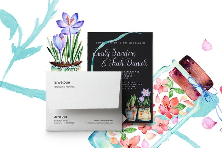 Spring Wedding Invitation Card