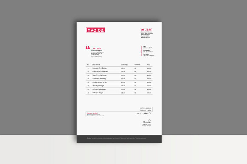 35 Invoice Templates for Corporations   Small Businesses It s available in nearly any format you need  so you ll be happy you went  with this package  Simple Invoice