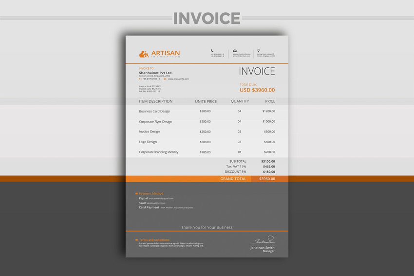 35 Invoice Templates for Corporations   Small Businesses Professional Invoice Template