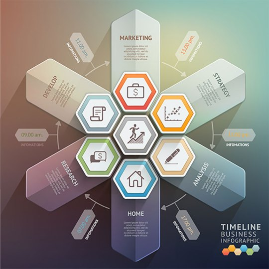 27 Creative Infographic Templates Arrow Timeline Infographics Template