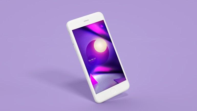 Purple iPhone Wallpaper Design Photoshop Tutorial