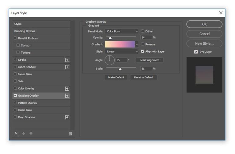 Add a pastel gradient overlay