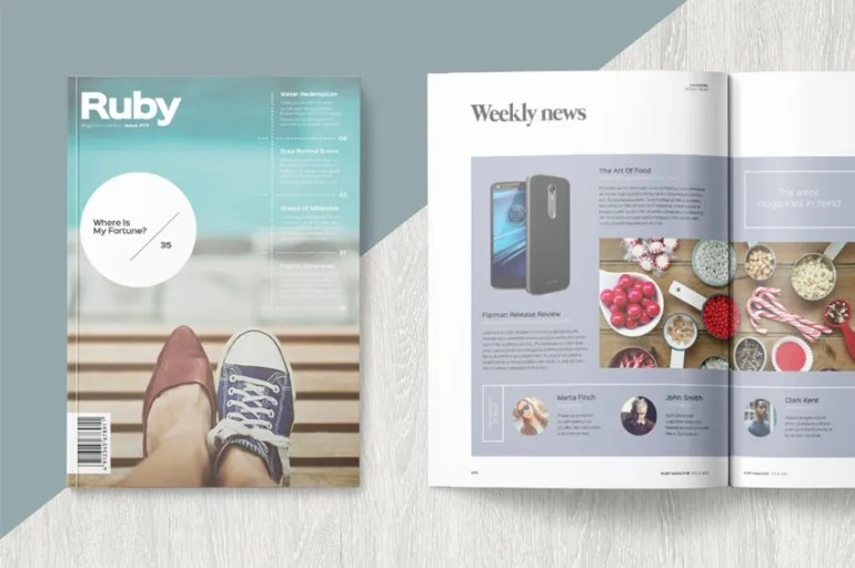 Ruby Magazine Template