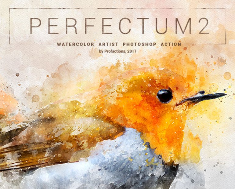 Perfectum 2 - Watercolor Artist Photoshop Action