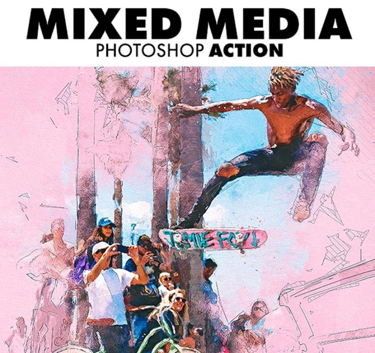 Mixed Media Photoshop Action