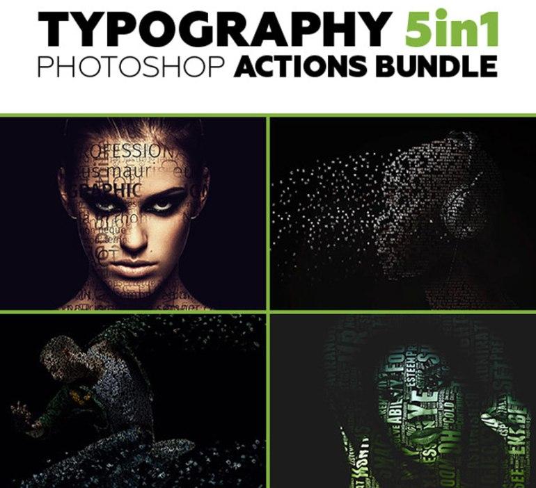 Typography Photoshop Actions Bundle