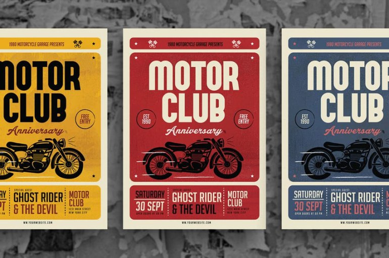 Motorclub Event Flyer