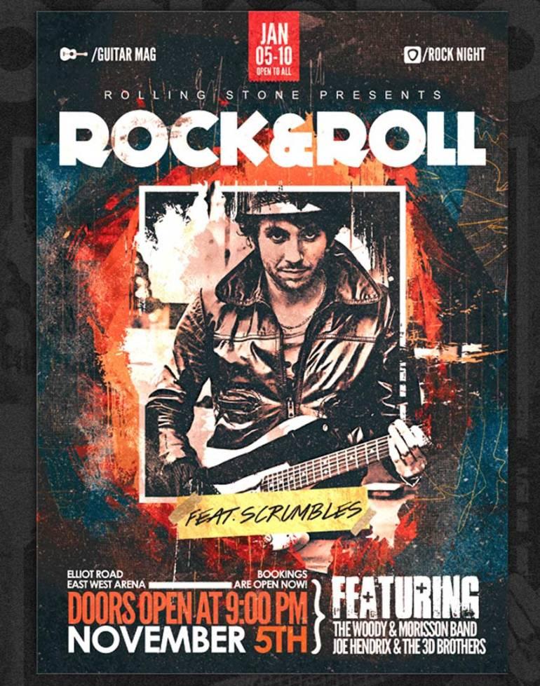 Grunge Core Rock Concert Flyer