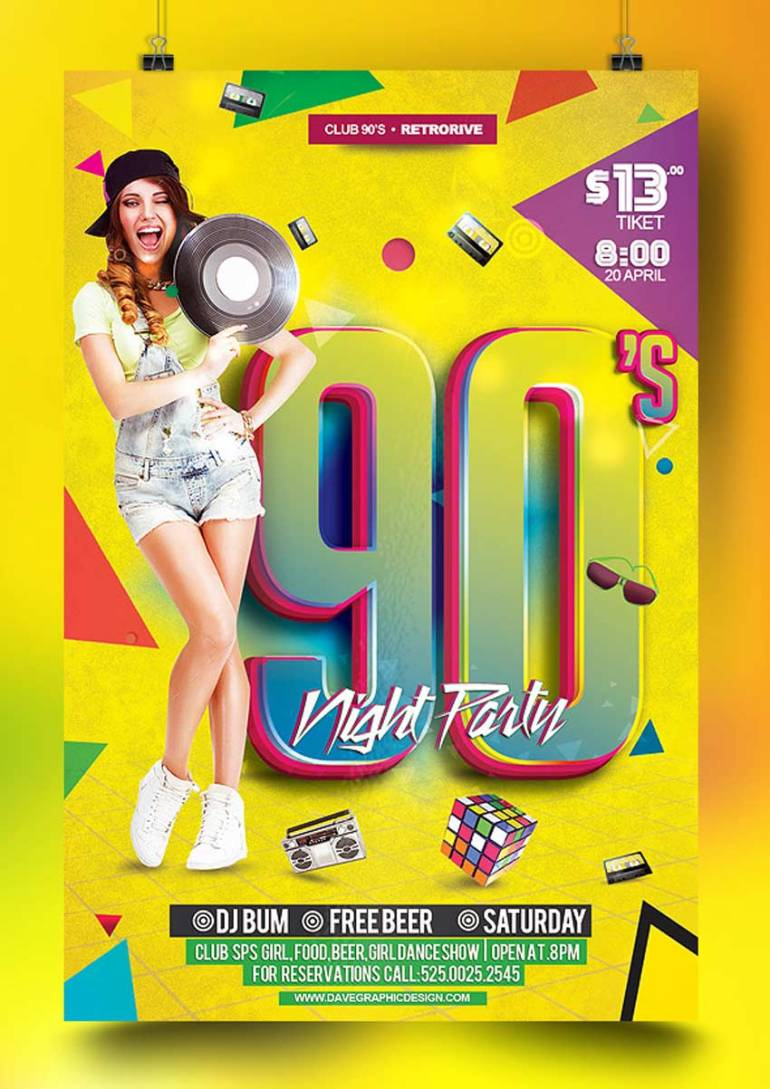 Flyer 90s Night Party