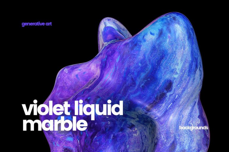 Violet Liquid Marble Backgrounds