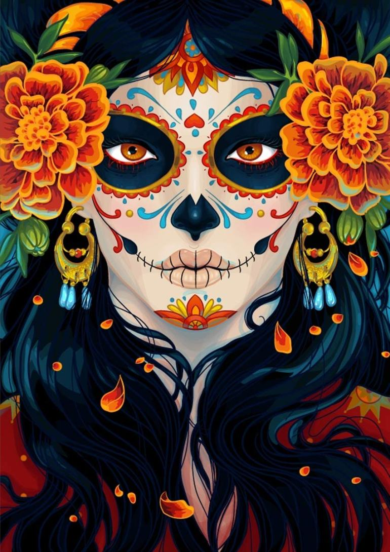 How to Create a Vibrant Day of the Dead Portrait in Adobe Illustrator