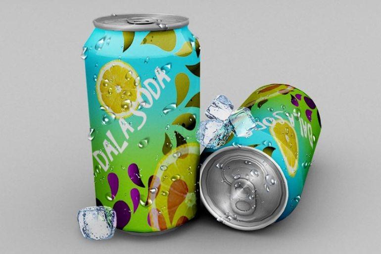 Soda Can Free PSD Mockup