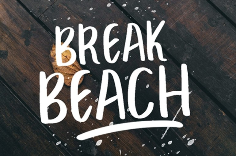Break Beach Brush Font