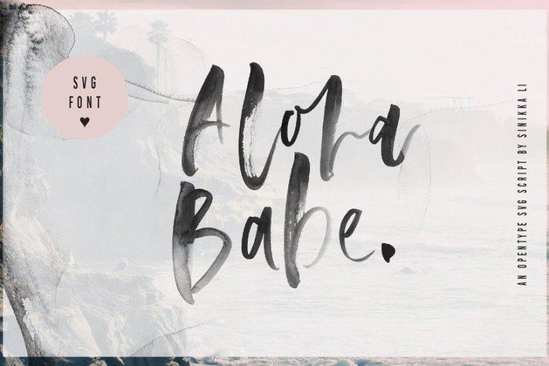 Aloha Babe Handwritten Font