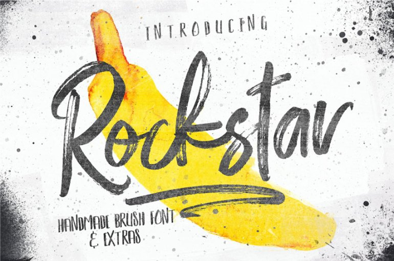 Rockstar Brush Font Set