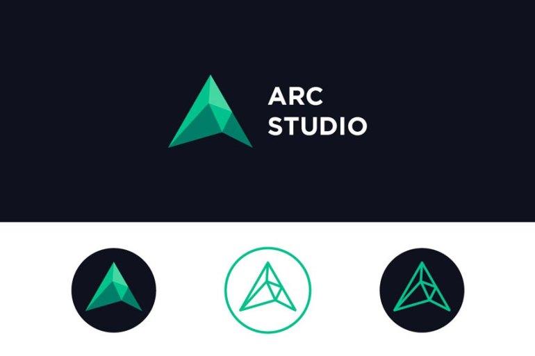 Arc Studio Letter A Logo