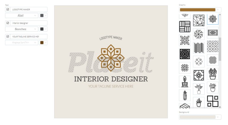 Easy Interior Design Logo Template
