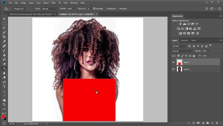 Layer masking shirts in Photoshop