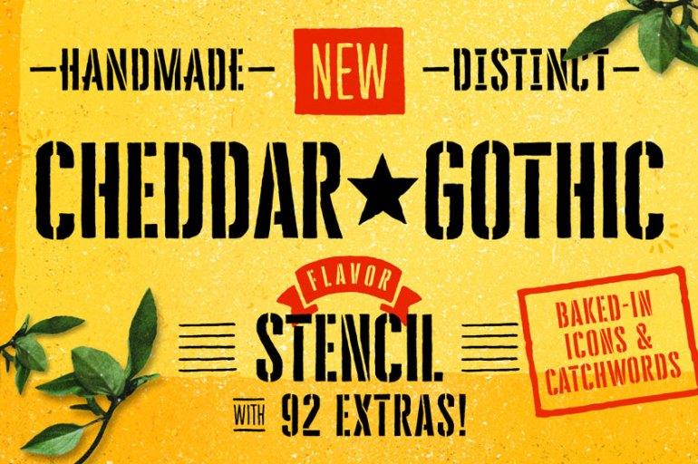 Cheddar Gothic Stencil