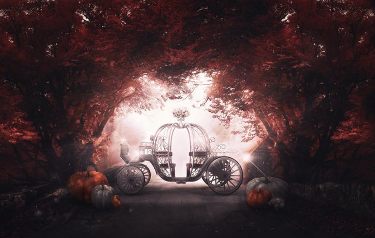 Cinderella Pumpking Coach Photo Manipulation