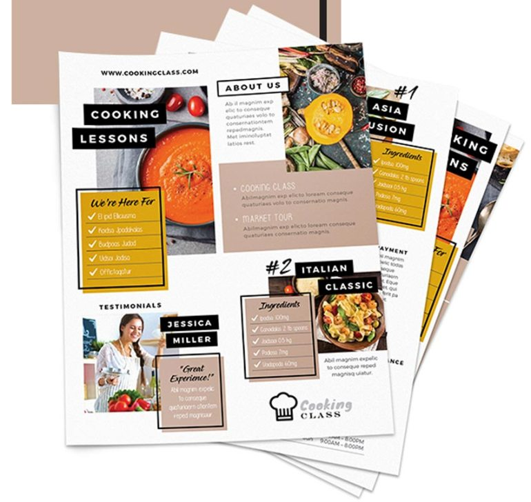 Cooking Class Flyers